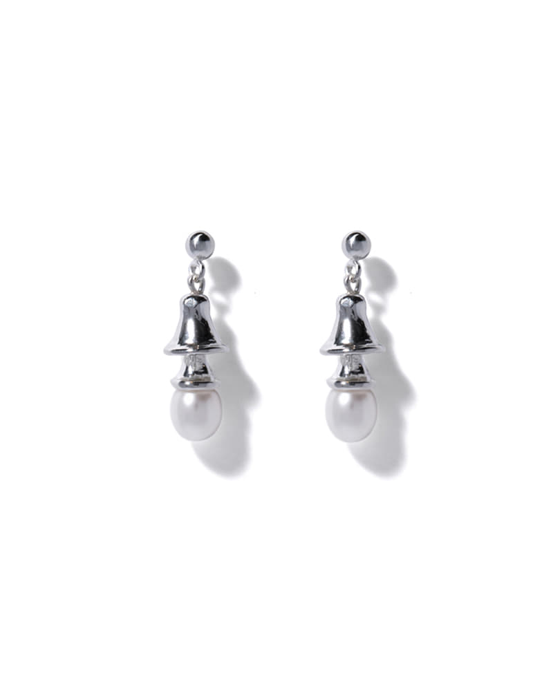 PEARL BELL SILVER EARRINGS