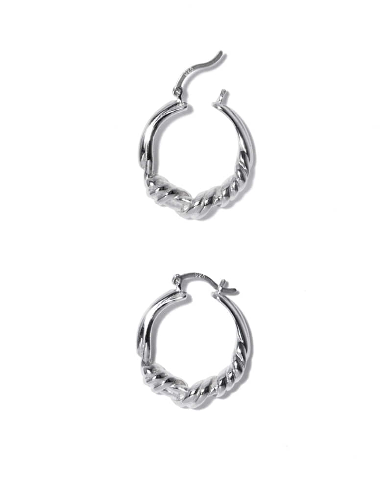 GORDIAN SWEATER SILVER HOOPS