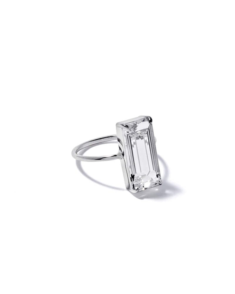 COLORLESS CHUNKY SQUARE RING