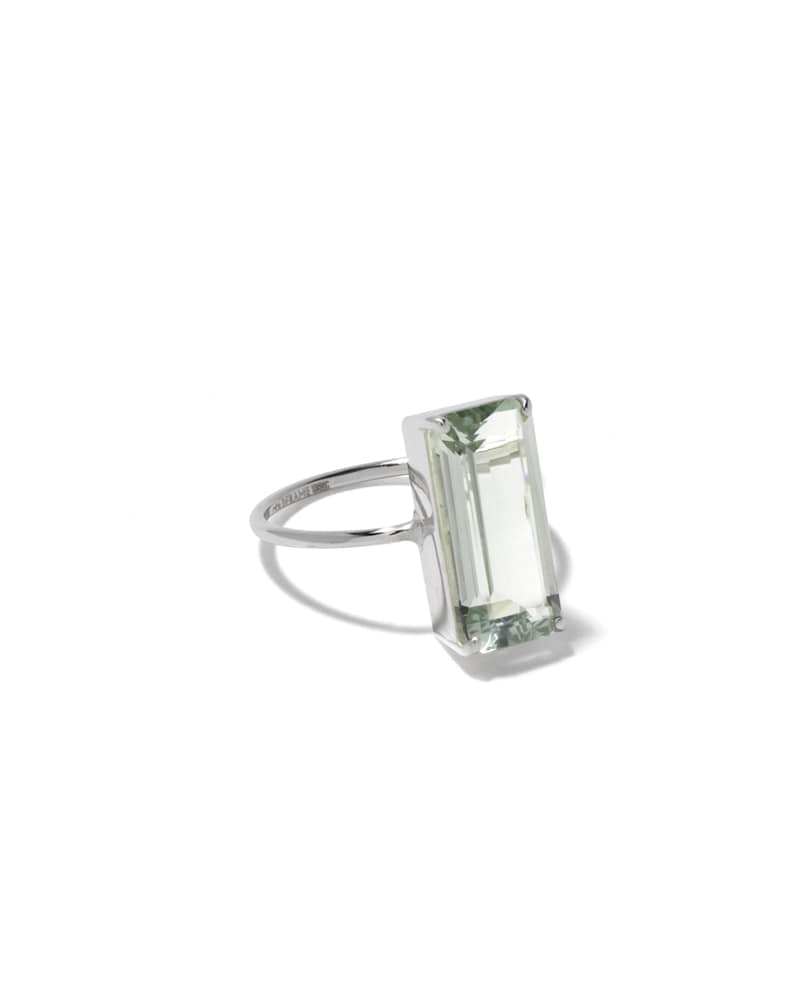 GREEN CHUNKY SQUARE RING