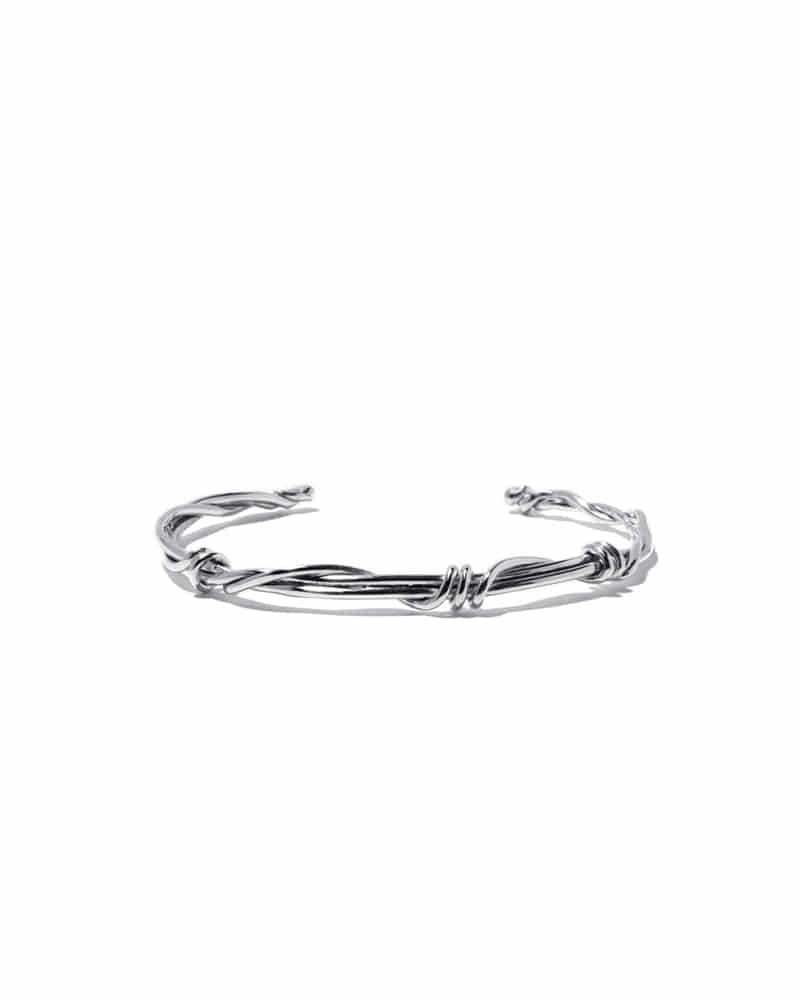 GORDIAN SILVER KNOT BANGLE