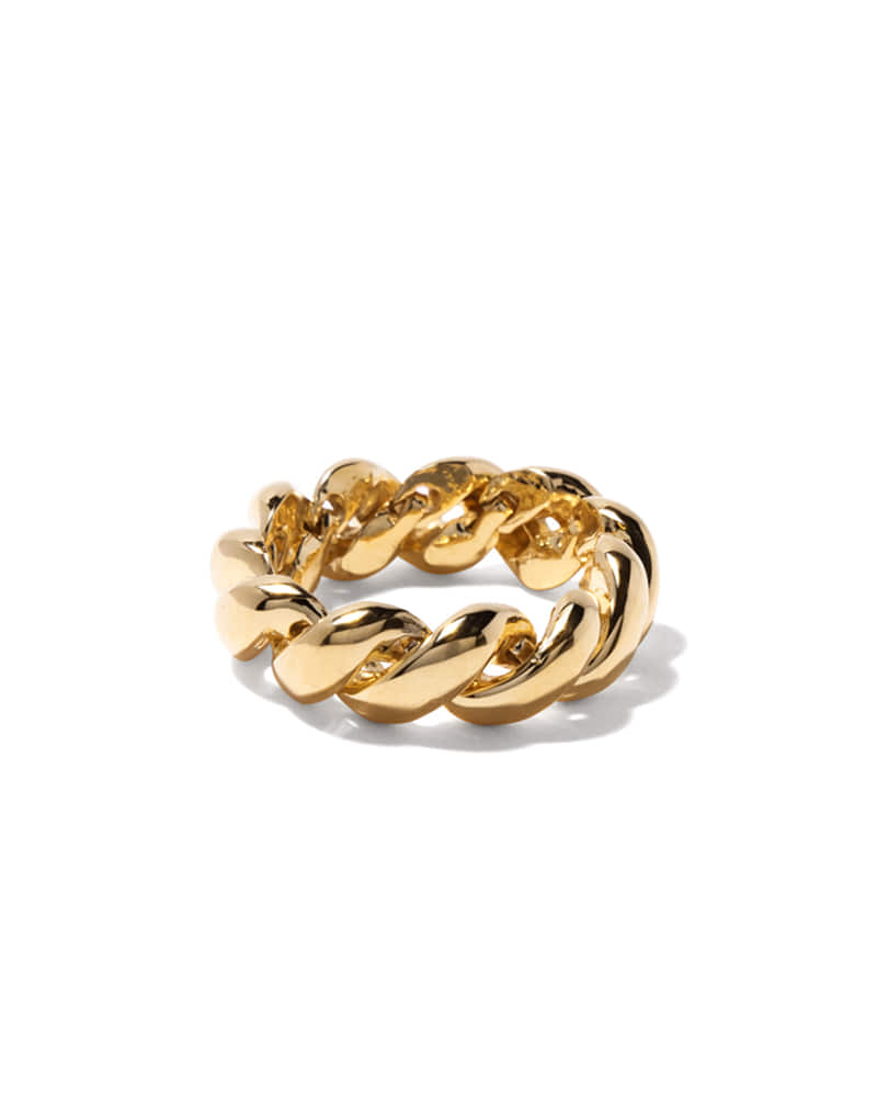ROPE TWIST GOLD RING