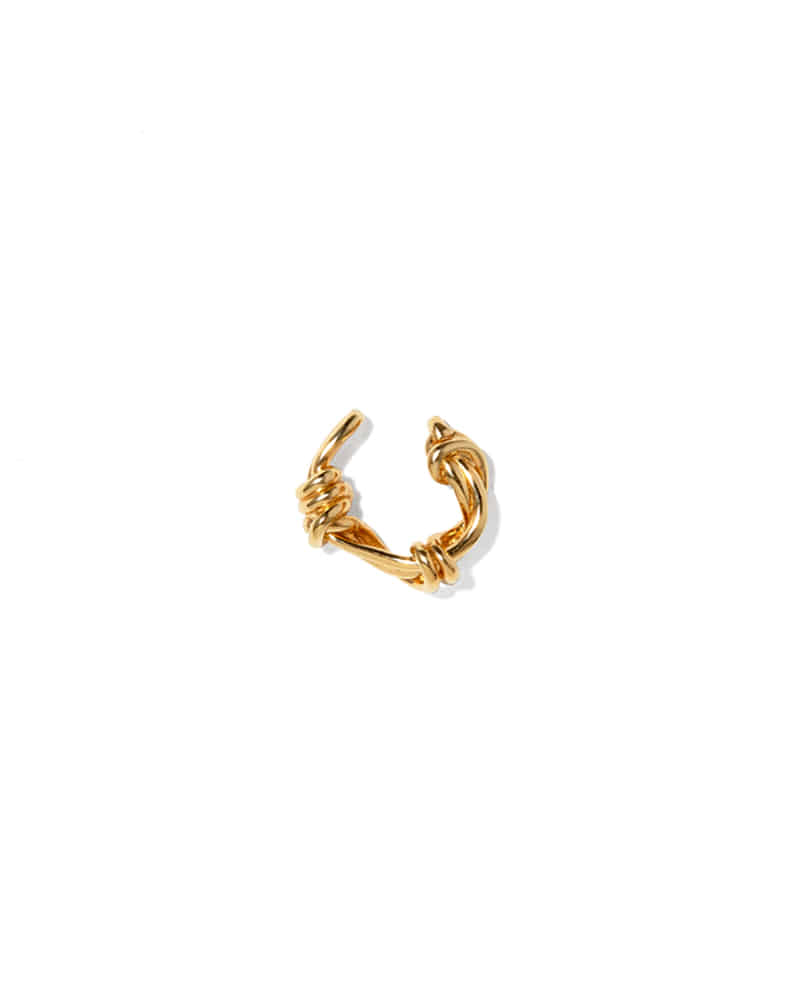 GORDIAN KNOT GOLD EAR CUFF