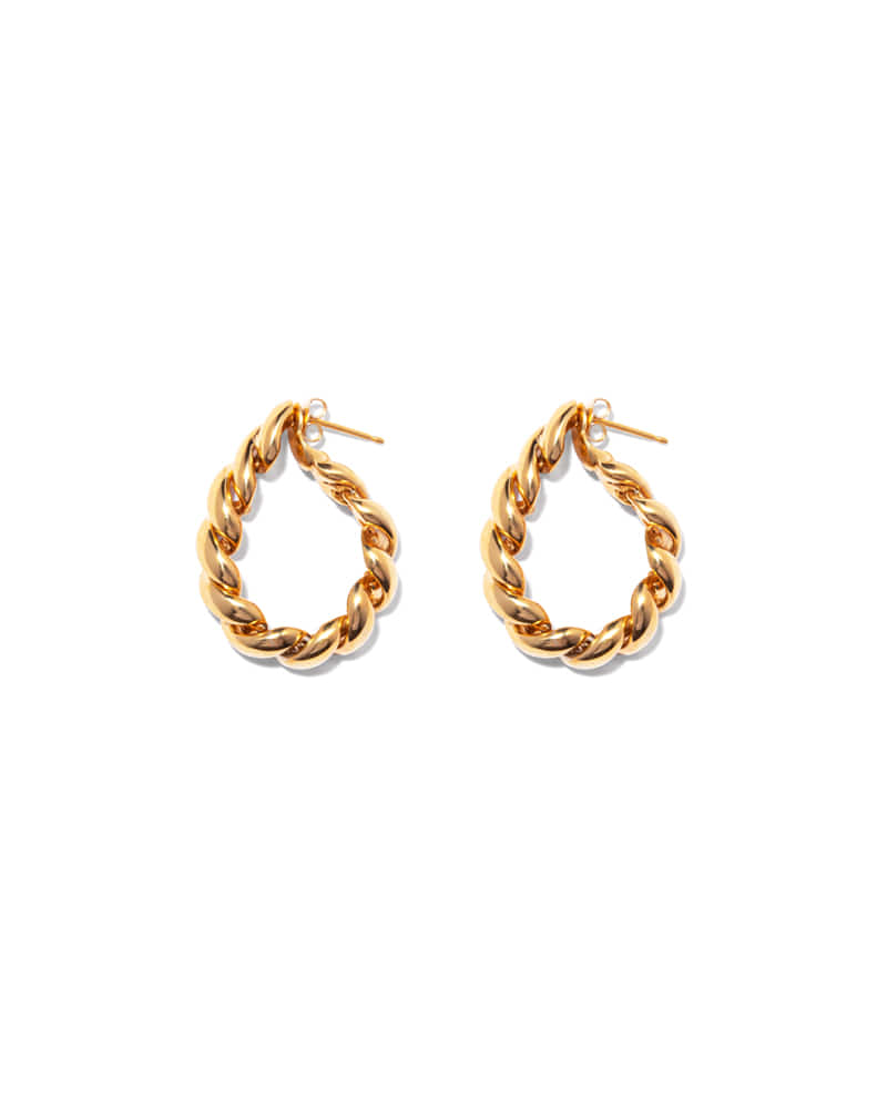 ROPE TWIST GOLD HOOP